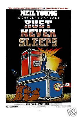Classic  Rock: Neil Young & Crazy Horse *Rust Never Sleeps * Movie Poster 1979
