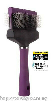 Master Grooming Tools SOFT WIDE FLEXIBLE SLICKER BRUSH PET Dog Hair Mat Remover