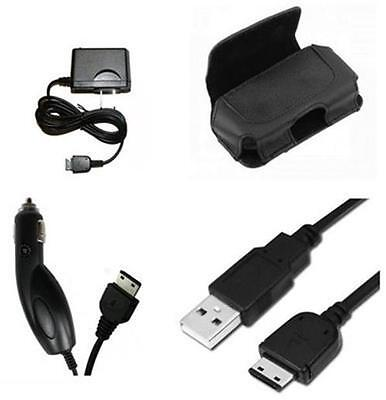 Trasfer Data Sync Link Cable + House Home + Car Auto Charger + Case for Samsung
