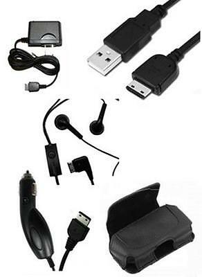 USB Cable + Travel Home + Car Charger + Holder Case + OEM Headset for Samsung