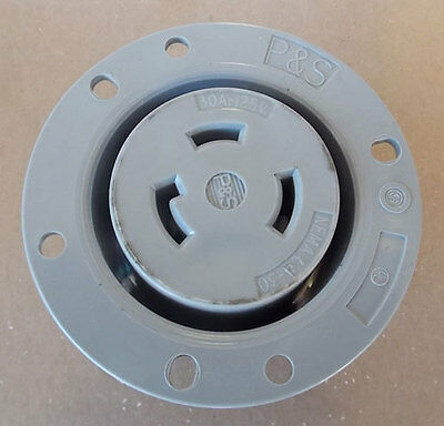 NEW Pass & Seymour L530-FO Turnlok Flanged Outlet 30A 125V 2P 3W Grdg Gray