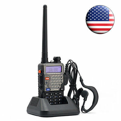 Baofeng UV-5R Plus FM Dual Band Transceiver Ham Two-way Radio HT + Free Earpiece