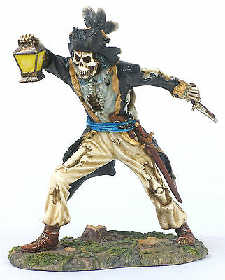 Black Bart Pirate Statue/Figurine Poly Resin 7 inches Tall