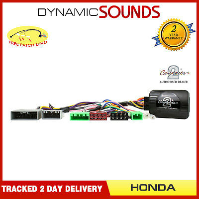 DS-HO002 Steering Stalk Control Adaptor + FREE Patch Lead For Honda Civic 2006>
