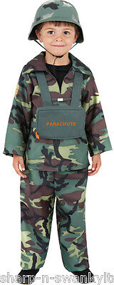 Boys Army Military Camouflage Soldier Uniform Fancy Dress Costume Outfit