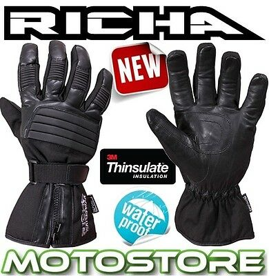 Richa 9904 Winter Warm Thermal Motorcycle Motorbike Waterproof Gloves Thinsulate