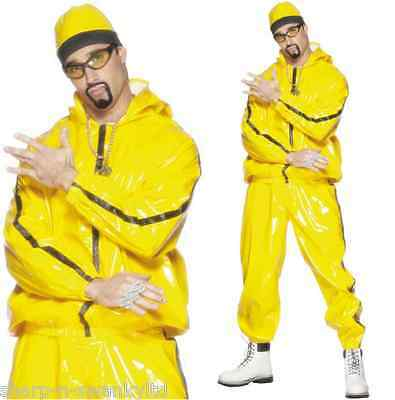 Mens 2000s Ali G Rapper Shell Suit Celebrity Stag Do Fancy Dress Costume Outfit