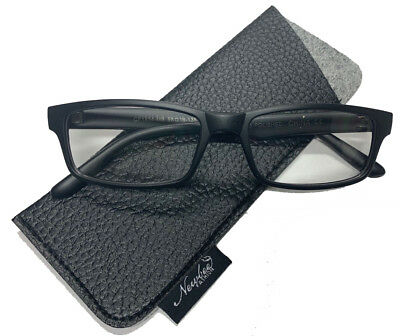 Black Clear Lens Glasses For Fashion Use or RX Ready