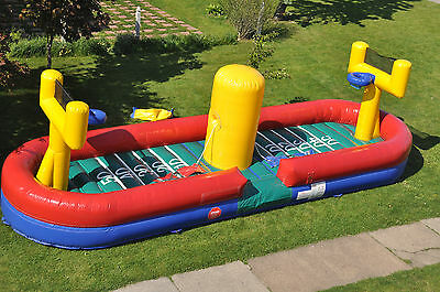 New Commercial Inflatable First N Goal Bungee Game Bounce House Moonwalk Jump FS
