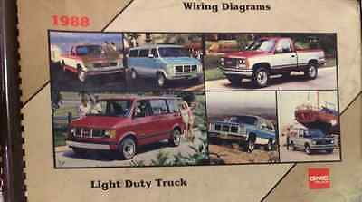 1988 gmc truck light duty truck electrical wiring diagrams service shop  manual