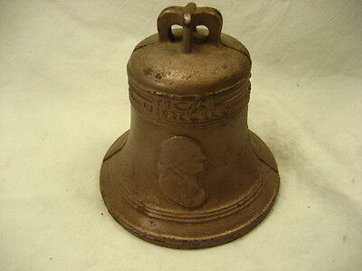 Vintage Cast metal 1776 Liberty bell  1950's i think