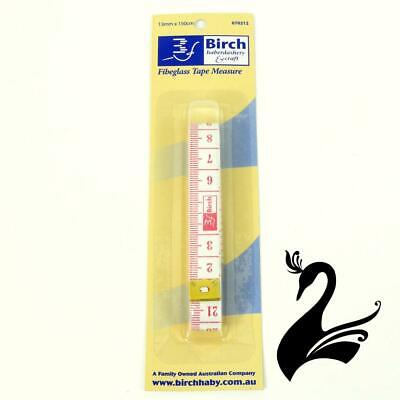 "Birch 60"" / 150cm Fibreglass Tape Measure - White - Craft Millinery DIY"