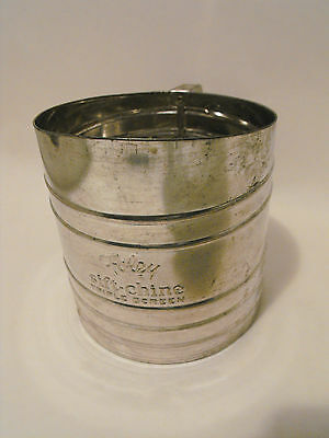 Vintage Foley Sift Chine Triple Screen  Flour  Sifter