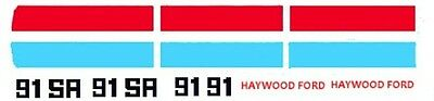 #91 Haywrd Ford 1966 Mustang P. Talbert 1/25th - 1/24th Scale WATERSLIDE DECALS