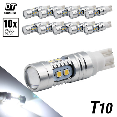 2X 1200 Lumens 40W T10 168 High Power Chip SMD LED White Light Bulbs Projector