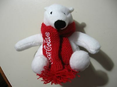 "4"" plush Coca Cola Teddy Bear doll, good condition"