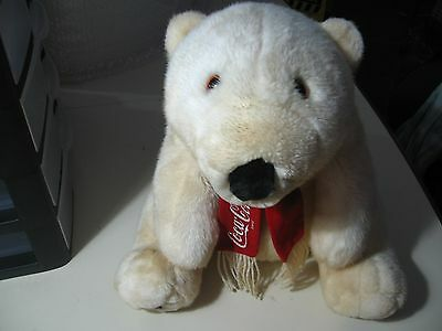 "13"" plush Coca Cola Teddy Bear doll, good condition"