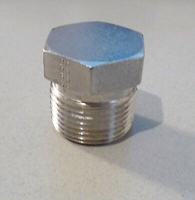 """STAINLESS STEEL SANITARY FITTING ADAPTER MALE PLUG 3/4"""" MALE NPT"""
