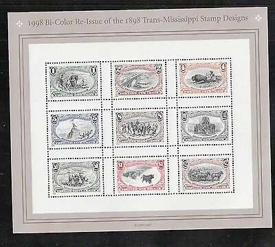 1998 #3209 Trans-Mississippi Centennial Sheet of 9 MNH