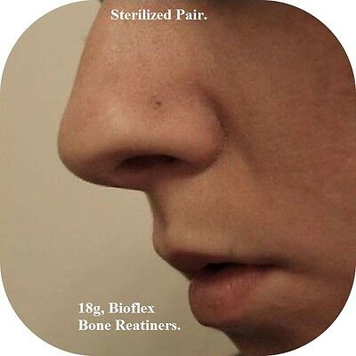 Buy One Get One Free, 18G Tiny Flat Top Bio Flex Nose Strelized Retainers.