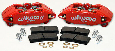 Wilwood Dpha Brake Caliper & Pad Set,front Stock Replacement,honda,acura,red
