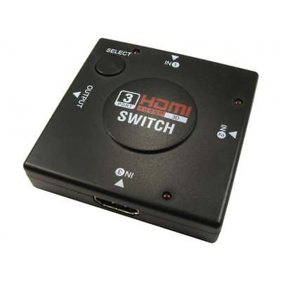 HDMI HD 3 Way Automatic Auto Switch Switching Box Adaptor 1080p 3 Devices - 1 TV