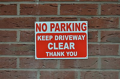 No Parking Keep Driveway Clear Thank You Polite Notice Sign Or Sticker - 3 Sizes