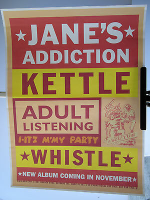 1997 Janes Addiction Kettle Whistle Promotional Album Poster Holder