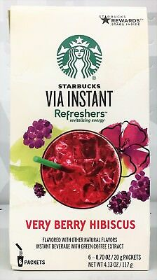 Starbucks Via Instant Refreshers Very Berry Hibiscus Instant Beverage 4.13 oz