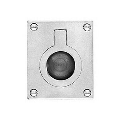 Delf Cabinet Flush Ring Pull 1242MCP 52x64mm Polished Chrome