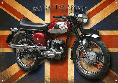 Bsa Bantam Sports Metal Sign.