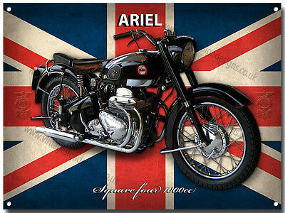 ARIEL SQUARE FOUR MOTORCYCLE METAL SIGN