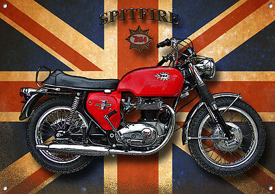 Bsa Spitfire Motorcycle Metal Sign