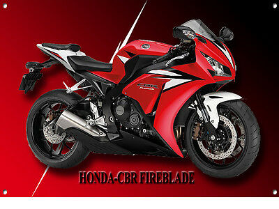 Honda Cbr Fireblade Motorcycle Metal Sign
