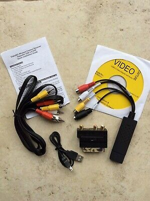 USB 2.0 to 3 RCA Audio S-Video TV VHS DVD+ RW Capture Converter PC Adapter Cable