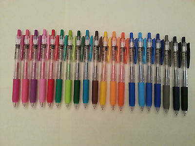 Zebra Sarasa Push Clip Gel Ink Pen - 0.3mm (choose 2 pens)