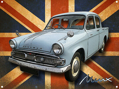Classic British Hillman Minx Metal Sign
