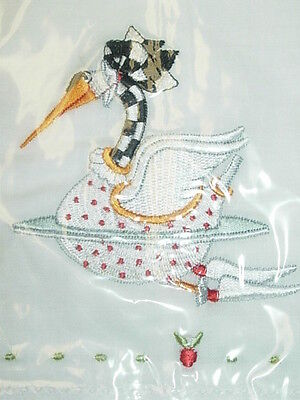 Krinkles 12 Days Of Christmas Swan Swimming Tea Towel