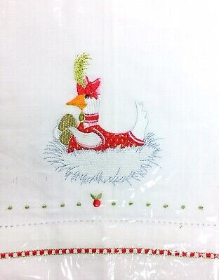 Krinkles 12 Days Of Christmas Goose A Laying Tea Towel