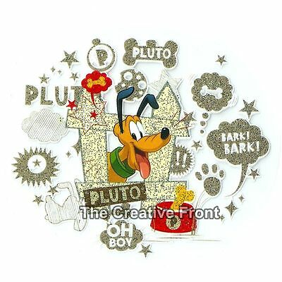 Pluto Dog Character Explosion - DIY Iron On Glitter T-Shirt Heat Transfer - NEW