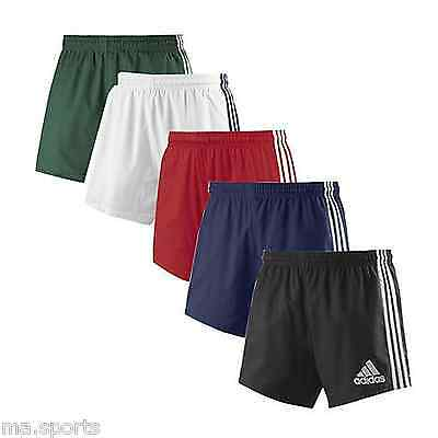 New Adidas 3 Stripes Rugby Training Mens Multi Colour Climacool Shorts Uk Size