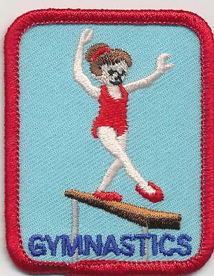 Girl Boy GYMNASTICS RED lessons Fun Patches Crests Badges SCOUTS GUIDES classes