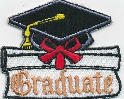 Girl Boy GRADUATE Graduation Fun Patches Crests Badge SCOUTS GUIDES Kindergarten