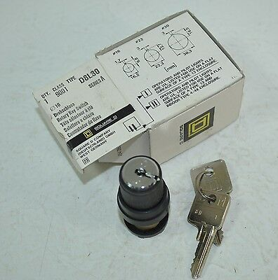 Square D Rotary Key Switch Class 9001 Model# D8L30