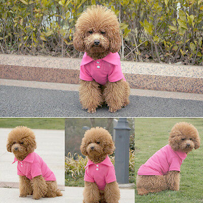 Fashion Pet Doggy Apparel Dog POLO Cool Puppy T-Shirts Clothes Size XS S M L