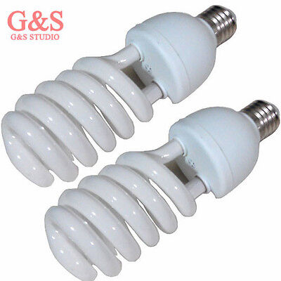 2xTri-phosphor light bulb 45watt 5500K 220V E27 photo video studio daylight bulb