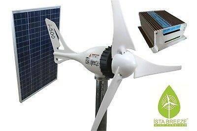 HYBRID KIT Offer ISTA-BREEZE® 12V i-500 Small WIND GENERATOR + Charge Controller