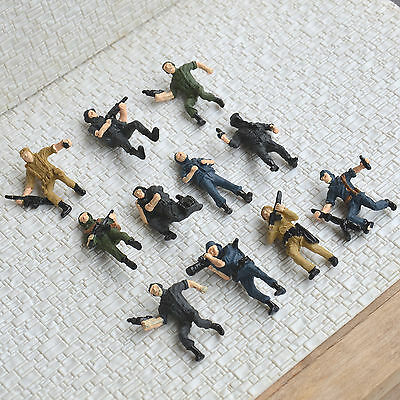 11 pcs O scale 1:43.5 Larger Figure Soldiers