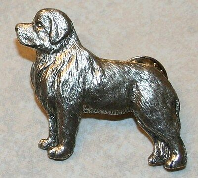 Newfoundland Dog Fine PEWTER PIN Jewelry Art USA Made