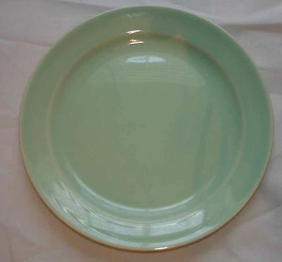 VINTAGE TAYLOR SMITH TS&T LURAY PASTELS GREEN BREAD PLATE